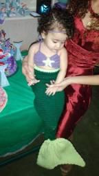 Fantasia sereia feita em croche
