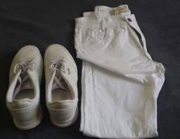 Calça e Tênis Brancos