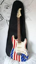 Guitarra Eagle bandeira Estados Unidos
