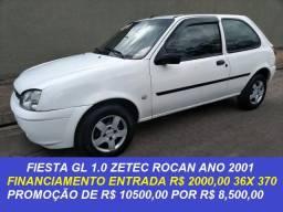 Fiesta 1.0 zetec rocan 2001 financiamos e parcelamos no cartão
