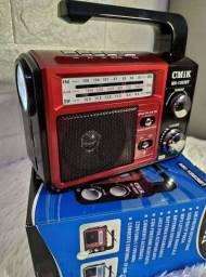 Radio 3 bandas cmik com lanterna. (entrega grátis)