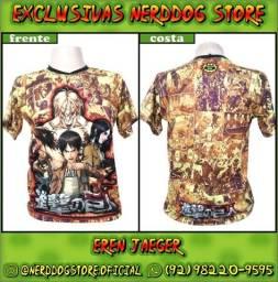Título do anúncio: Camisa Eren Yeager - Shingeki no Kyojin (Attack on titan) - NerdDog Store