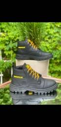 bota Black caterpillar costurada c/garantia