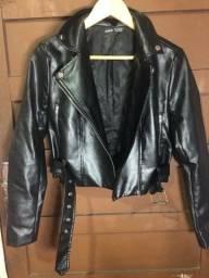 Jaqueta de couro SHEIN