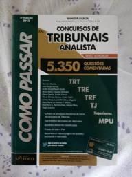 Livro Como Passar Em Concursos De Tribunais - Analista