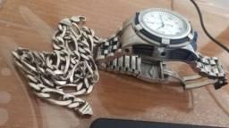 Prata e relógio