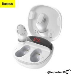 Fone de Oouvido Bluetooth Baseus Encok WM01 Plus - Branco/Preto/Rosa