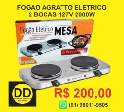 Fogão Agrato Elétrico de Mesa 2 Pratos 2000W 110V