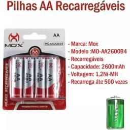 Título do anúncio: Pilhas Recarregáveis Mox Aa 2600 B4