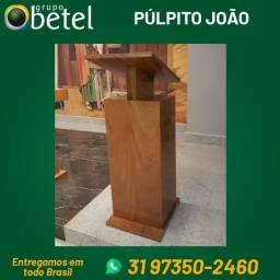 púlpito e cadeiras de madeira maciça podium em madeira e aço inox para igreja ou capela