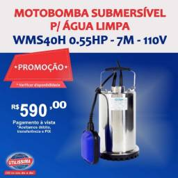 Motobomba Submersível para Água Limpa 1/2HP