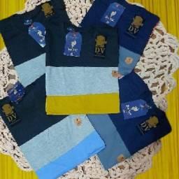 Kit 05 Camisa listrada algodão elastano