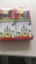 Título do anúncio: Lápis de cor R$2,50 caixa com 12 lápis.  Mínimo pacote com 12 caixas a R$30,00