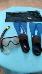 Título do anúncio: Conj. Snorkel e pé de pato Triboard - N° 37/38
