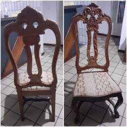 Cadeiras em madeira de lei