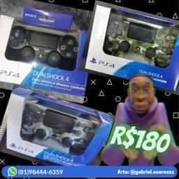 Controle/Dualshock 4 - Playstation 4 (Novos Lacrados)