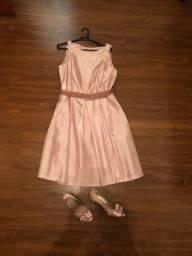 Vestido e sapato rosa num 36  em santa cruz do sul