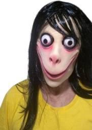 Máscara De Carnaval / Halloween - Momo + Óculos Do Meme - Nova, sem qualquer uso!