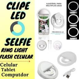 Ring Light Clipe Anel Luz Pra Selfie Flash Celular Tablet