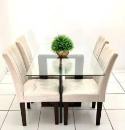 Mesa 4 cadeiras ( novíssima sem avarias ) !