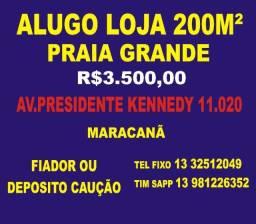 Título do anúncio: Alugo Loja 200 m² na Praia Grande, Av. Kennedy, Baln. Maracanã