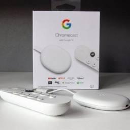 Título do anúncio: Promoção OLX Pay! Chromecast com Google TV (Android TV) 4K Novos/Lacrados