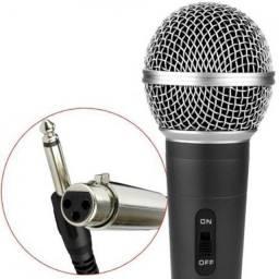 Microfone Com Fio Dinâmico Profissional M-58