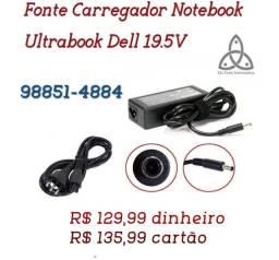 Carregador Notebook Ultrabook Dell 19.5V