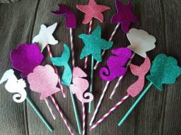 Kit decorativo para festa da pequena sereia