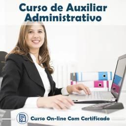 Auxiliar administrativo (com certificado)