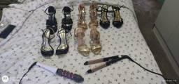 Chapinha, babyliss e 5 pares de sapato n° 35
