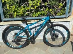 Bicicleta Sense Fun Comp, modelo 2021/2022, Aqua e Preto, tamanho M, aro 29