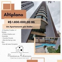 Apartamento Alto Padrão no Altiplano, 4 Quartos todos Suítes, Área de Lazer Completa!!