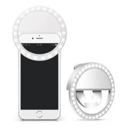 Luz Selfie Ring Light Clipe Anel LED Flash Celular Universal Portátil