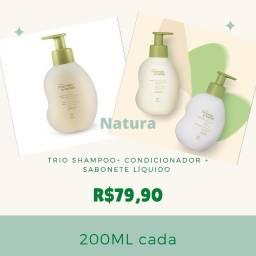 Kit 03 produtos mamãe e bebê SHAMPOO + CONDICIONADOR +SABONETE LÍQUIDO