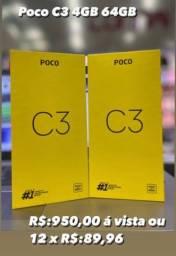 Título do anúncio: Celular Xiaomi Poco C3 - 4GB Ram 64GB Rom - Dual Chip