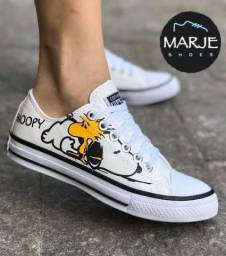 Tênis All star Snoopy. Lindo e confortável.