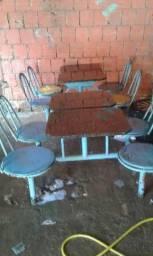 2 mesão com 8 cadeira