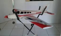 Aeromodelo avião Coiote 46 glow hobby não auto heli controle remoto Turnigy Futaba