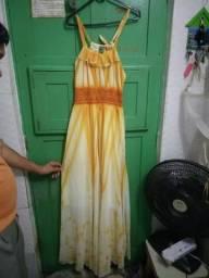 Vestido longo degradê