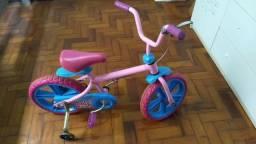 Bicicleta Infantil Baby Alive com rodinhas