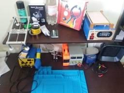 Ferramentas para manutenção de celulares e tablets