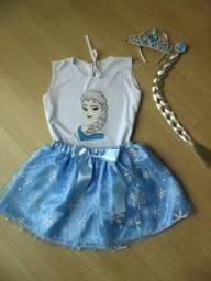 Fantasia Frozen - Elsa (NOVA) - tam 6