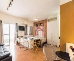 Flat com 1 dormitório para alugar, 42 m² por R$ 2.400/mês - Rudge Ramos - São Bernardo do