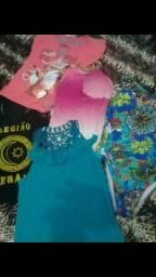 Lote de roupas femininas 70 peças pm 120 tudo