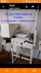 Kit completo de Maquina para fabricaçao de fradas. zap *