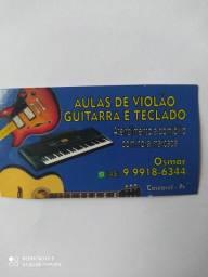 Aulas de violão e guitarra e teclado