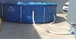 Piscina Sunfit 5 mil litros com 3 meses de uso
