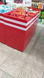 Cestos de ofertas em aço (vermelhos)