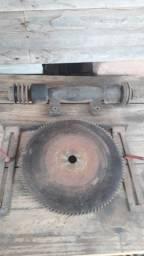 Eixo e disco de serra